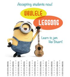 #Minion ukulele lessons – learn to jam like Stuart!
