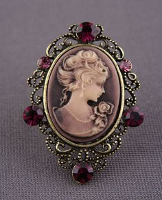 Miss Manners Cameo Ring (purple) $12.00 #Lulus
