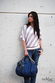 cute diagonal stripe top from novae clothing