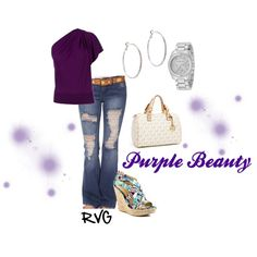 """Purple Beauty"" by r-viviane16 on Polyvore"