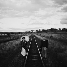 Today, Wendy and Rob held a steam punk themed wedding at their parents home in Toowoomba. We made portraits in magic hour on this real working train line.  #Documentaryweddingphotography #brisbaneweddingphotographer #vsco #blackandwhite #wedding #weddingday #weddingdress #weddingphotographer #destinationwedding #destinationweddingphotographer #documentaryweddingphotographer #Toowoomba #toowoombaphotographer #toowoombaweddingphotographer #wendyandrobputacogonit