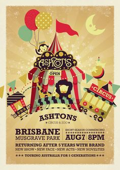 Ashtons Circus & Zoo by Cindy Natassia, via Behance