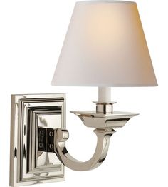 Visual Comfort Studio Edgartown 1 Light Decorative Wall Light in Polished Nickel MS2012PN-NP #visualcomfort