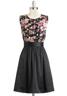 Too Much Fun Dress In Special Evening by Emily and Fin - Mid-length, Black, Pink, Floral, Pockets, Party, Casual, A-line, Sleeveless, International Designer, Tis the Season Sale, Top Rated