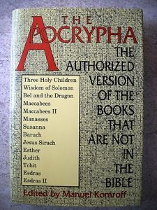 The Books of the Apocrypha List | Details about The Apocrypha or Non-Canonical Books of the Bible the ...