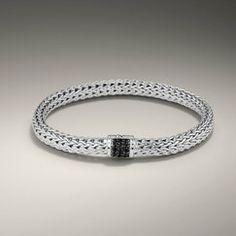 John Hardy Bracelet with Black Sapphire