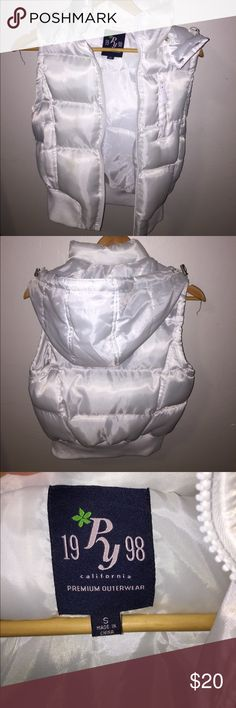 White Puffer Vest White Puffer Vest, very padded and comfortable. Willing to trade. (Said VS for exposure,sorry) PINK Victoria's Secret Jackets & Coats Puffers