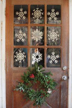 Snowflake Christmas Door Decoration