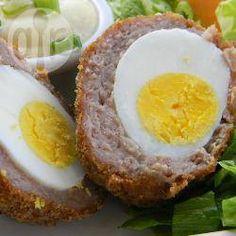 Gebackene schottische Eier @ de.allrecipes.com