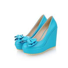 Women's Shoes  Wedge Heel Wedges Pumps/Heels Office & Career/Dress Black/Blue/Pink/Beige – USD $ 32.99