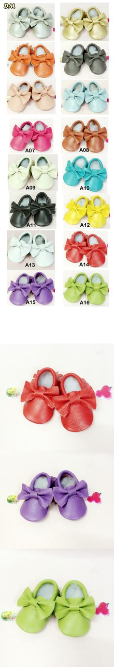 Via Fedex, Colorful Genuine Leather Soft Baby Shoes First Walkers Baby Moccasins Bowknot Infant Kids Fringe Shoes, 100Pairs