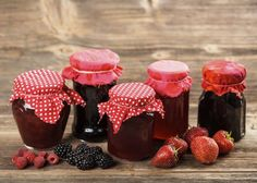 Buy Glass of homemade by grafvision on PhotoDune. Glass of homemade jam from assorted berry fruit Croissant, Fruit Preserves, Jam And Jelly, Specialty Foods, Fruit In Season, Charcuterie, Holiday Cakes, Vegan Ice Cream, Mushroom Recipes
