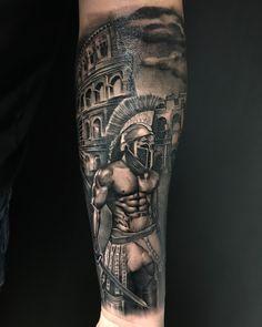 Sparta 2 Ramones, Tattos, Mythology, Tattoo Designs, Gray, Black, Tattoos