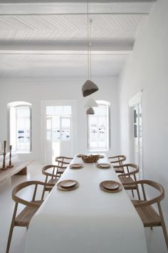"""Architectural office Omniview Design has completed the renovation of Villa Kampani, one of the most historic properties of downtown Mykonos. Built in the it was the house of the Mayor of Mykonos, after whom Akti Kampani (also known as """"Gialos"""") was named. Interior Design Blogs, Interior Decorating, Greek Decor, Home Decor Near Me, Loft Design, House Design, Home Decor Online, Minimalist Interior, Minimalist Scandinavian"""