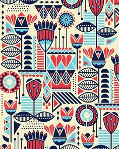 ILLUSTRATION: Illustration of Rug prints (love when motifs and icons fit together like a puzzle. -nicole)