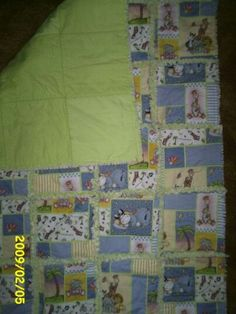 Rag quilt for my cousin a few years ago.