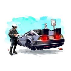 The Fun Illustrations Show Famous Vehicles from Those Famous Films