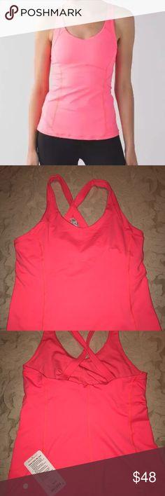 Lululemon Catch Me Tank Size 12 Pink NWT Lululemon Size 12 Catch Me Tank Flashlight Pink Yoga/Workout//Run! Super cute! lululemon athletica Other