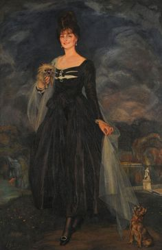 Retrato de la señora S. W. de S.oil on canvas by Ignacio Luzoaga (1870-1945)