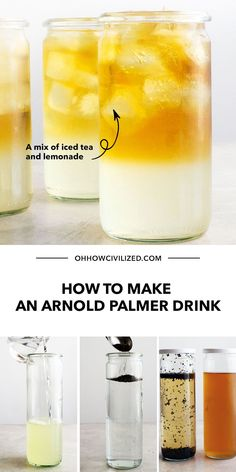 A popular summertime drink, an Arnold Palmer Drink is a tasty blend of iced tea and lemonade. It's really easy to make at home and can be made from scratch using cold brewed tea. Learn the steps in this guide - click to continue.