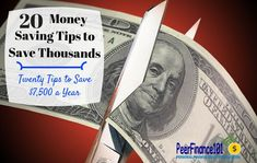 Save thousands a year with these 20 money #saving tips around the house! Stop watching your money go down the drain and reach your financial goals faster with these money saving tips.