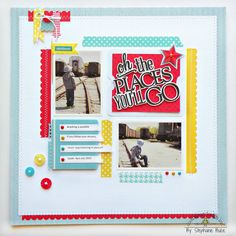 Doodlebug Design Inc Blog: Hot Fun in the Summertime Layout Inspiration by Stephanie Buice featuring the Stars & Stripes Collection