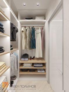 Фото: Интерьер гардеробной в спальне - Интерьер квартиры в современном стиле, ЖК «Московский квартал», 130 кв.м.