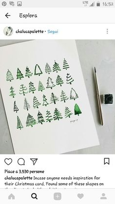 Weihnachtsbäume malen leicht gemacht - New Ideas # Árvores de Natal Pintura fácil de árvores de Natal Bullet Journal Inspo, Bullet Journal Ideas Pages, December Bullet Journal, Bullet Journals, Diy Pinterest, Christmas Tree Painting, Christmas Tree Drawing Easy, Painted Christmas Tree, Christmas Tree Sketch