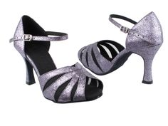 Very Fine Womens Salsa Ballroom Tango Latin Dance Shoes Style CD2158 Bundle with Plastic Dance Shoe Heel Protectors Black Satin 5.5 M US Heel 2.5 Inch