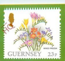POSTCARD: Guernsey Post Office Stamp Card, Mixed Freesia, Flower