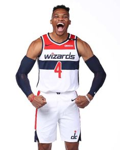 "NBA on Instagram: ""@russwest44 shows off his new @washwizards threads! 🛒 TAP to SHOP 🎽"" New Face, Nba Basketball, Photo And Video, Videos, Russell Westbrook, Shopping, December, Instagram, Faces"
