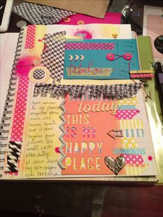 love the cut up straws and various washi. I like the different sections--envelope, journaling and a quote.
