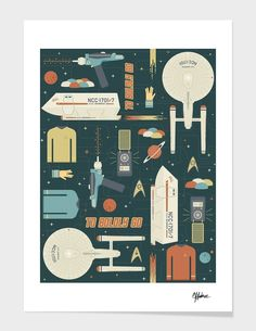 """To Boldly Go..."", Numbered Edition Affiches d'art by Tracie Andrews - From 25,00€ - Curioos"