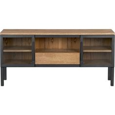 """Warner 59"""" Media Console in New Organizing & Storage   Crate and Barrel $1499"""