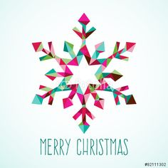 Vector: Modern Geometric Triangle Christmas Winter Snowflake