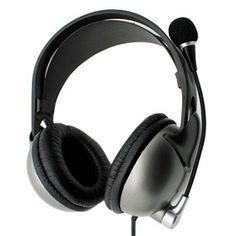 premium dj style computer headset with boom mic