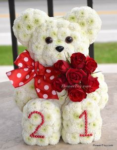 FlowerToy How Old Are You Now Bear