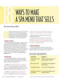 Skin Inc. magazine provides spa and wellness professionals in-depth business and - Business Plan - Ideas of Tips On Buying A House - Skin Inc. magazine provides spa and wellness professionals in-depth business and technical information on Massage Business, Salon Business, Business Notes, Business Ideas, Business Cards, Spas, Menue Design, Salon Promotions, Mobile Spa