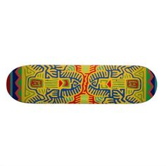 This skateboard looks good enough to use as a wall decoration!  See more skateboard designs on my Zazzle shop:  www.Zazzle.com/WitchesHammer