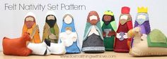 Felt Nativity Set by Do Small Things with Love