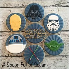 STAR WARS COOKIES, CUPCAKES,