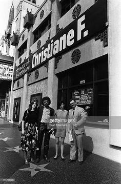 Christiane F. (born Christiane Vera Felscherinow) during a photo shoot on Hollywood Blvd in Hollywood, California. Station To Station, In Hollywood, Hollywood California, West Berlin, Louise Brooks, Beautiful Women, Photoshoot, History, Retro