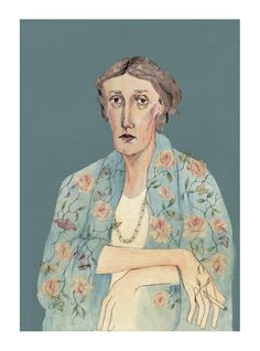 Virginia Woolf portrait by Bett Norris    www.bettnorrisdesign.com / http://bettnorrisdesign.tumblr.com