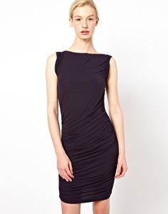 Chalayan Gray Line Twist Dress. But do I really need a 7th little black dress?  Decisions, decisions...