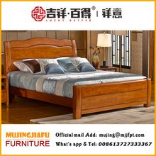 newest hot selling teak wood double bed designs (xfw-618) | old
