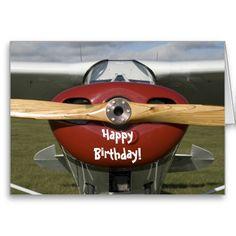 Aeroplane Pilot Happy Birthday Card | Zazzle
