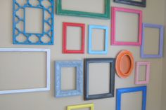 Playroom Wall Collage Frames FEATURED in HGTV by theDezignShoppe