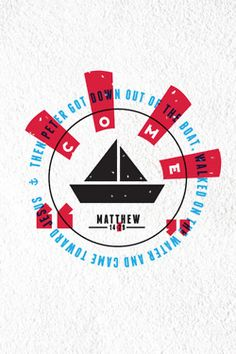 Matthew 14:29 - Then peter got down out of the boat, walked on the water and came toward Jesus. Designed by Shannon Hatch (@ShannonHatchNZ) - available as a print here.
