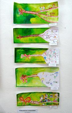 Pomlázková vyprávění - rozpletená pomlázka vypráví velikonoční příběhy - pomlázka, kresba pastelkou, okolí, anilinové barvy - symbol jarní travičky výtvarná výchova elementary art velikonoce, 4. ročník