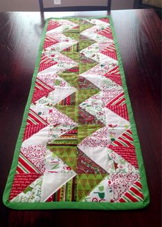 Chevron Quilted Christmas Table Runner by davignon86 on Etsy -- love this, for myself!!!!!
